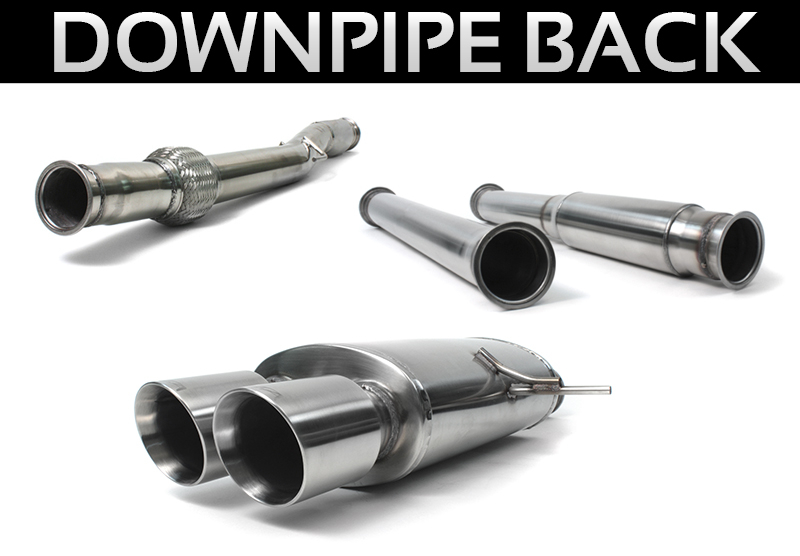ALTA Performance - Down Pipe Back Exhaust for JCW R56 Turbo Engine
